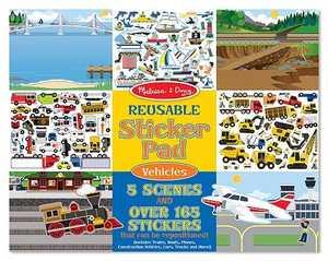 Melissa & Doug 4199 Reusable Sticker Pad Vehicles