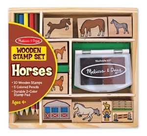 Melissa & Doug 2410 Horses Stamp Set