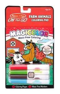 Melissa & Doug 9126 Magicolor On The Go Farm Animals Coloring Pad