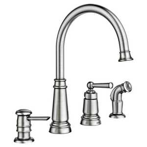 Moen 87042SRS Edison Spot Resist Stainless One-Handle High Arc Kitchen Faucet