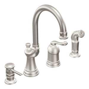 Moen CA87002CSL Muirfield Classic Stainless One-Handle High Arc Kitchen Faucet