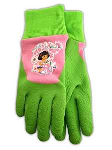 MIDWEST QUALITY GLOVES DE100T Nickelodeon Dora The Explorer Green Toddler Gripping Gloves