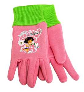 MIDWEST QUALITY GLOVES DE102T Nickelodeon Dora The Explorer Pink Jersey Toddler Gloves