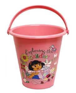 MIDWEST QUALITY GLOVES DE8K Nickelodeon Dora The Explorer Pink Garden Bucket
