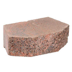 Oldcastle 16200543 Westfield Wall Block Red /Charcoal