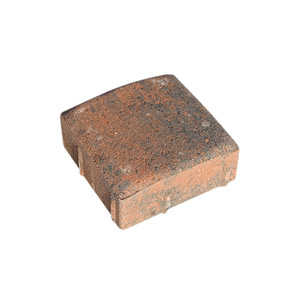 Oldcastle 10155320 Cobble Concord Square 6x6 Red/Char