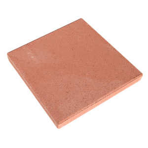 Oldcastle 10051095 16-Inch Red Square Patio Block
