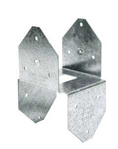 Simpson Strong-Tie BCS2-2/4 18-Gauge 4x Galvanized Post Cap/Base