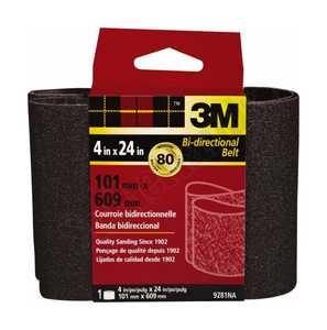 3M 9281NA 4 In X 24 In 80 Grit Heavy Duty Sanding Belt