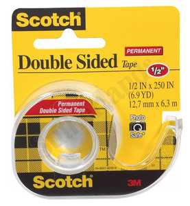 3M 136 Double Stick Tape 1/2x250 in