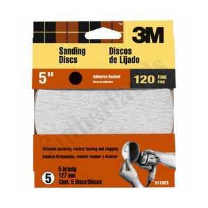 3M 9170 5 in Press N Sand Sanding Disc 120 Grit