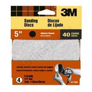 3M 9172 5 in Press N Sand Sanding Disc 40 Grit