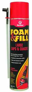 Red Devil 0912 Foam and Fill Large Gaps and Cracks Expanding Polyurethane Sealant 20 fl. oz. Champagne