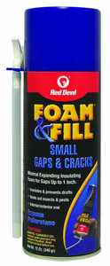 Red Devil 0913 Foam And Fill Expanding Polyurethane Sealant 12-Oz