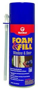 Red Devil 0914 Foam and Fill Window and Door Foam Sealant 12 fl. oz. Champagne