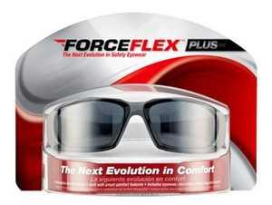 ForceFlex 92235-WZ4 Black Plus Flexible Safety Eyewear With Gray Lens
