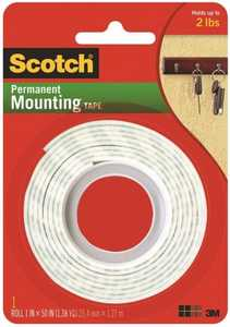 Scotch 114 1-Inch X 50-Inch Permanent Mounting Tape