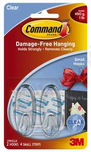 3M 17092CLR Command Clear Small Designer Hooks