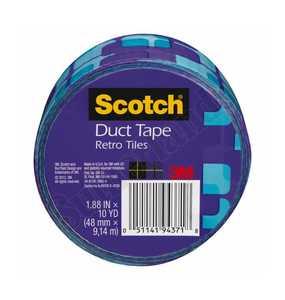 3M 910-VTL-C Duct Tape Pattern Tiles 1.88x10