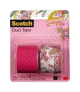 3M 905-PPL-2PK Duct Tape Combo P Paisley/Pink