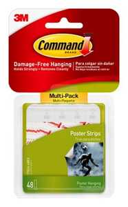 Command 17024-VP Small Poster Strips Value Pack