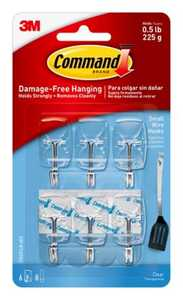 Command 17067CLR-VP Clear Small Wire Hooks