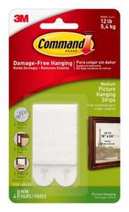 Command 17201-4PK Medium Picture Hanging Strips 4-Pack