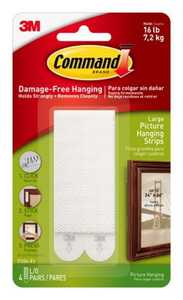 Command 17206-VP Large Picture Hanging Strips , 6 Pack