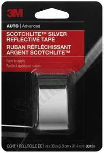 Scotchlite 03455C Reflective Tape, 1 in X 36 in
