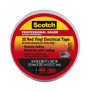 3M 10810 Electrical Tape Vinyl 3/4 In X 66 Ft Red