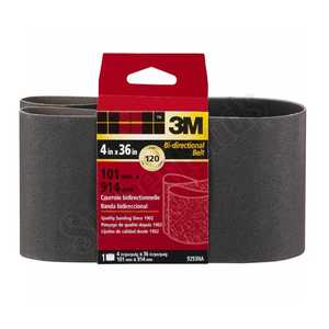 3M 9293NA 4 In X 36 In Heavy Duty Sanding Belt 120 Grit