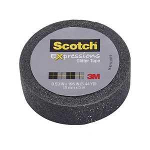 Scotch C514-BLK 0.59-Inch X 196-Inch Expressions Black Glitter Tape