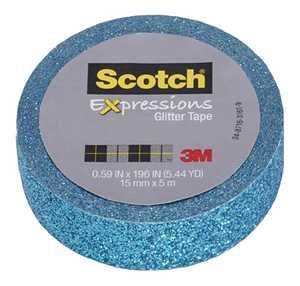 Scotch C514-BLU 0.59-Inch X 196-Inch Expressions Teal Blue Glitter Tape