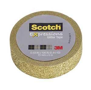Scotch C514-GLD 0.59-Inch X 196-Inch Expressions Gold Glitter Tape