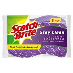 Scotch-Brite 20203-8 Sponge Scrub Nonscratch 3pk