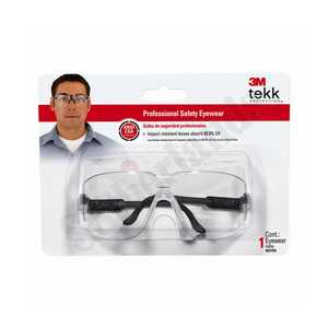 3M 90750-80025T Black Professional Safety Eyewear With Clear Lens