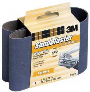 3M 9191SB-ES 3 In X 21 In Sandblaster Purple Sanding Belt 120 Grit