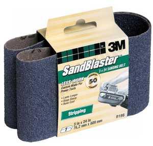 3M 9196NA 3 In X 24 In Sandblaster Purple Sanding Belt 50 Grit