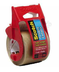3M 347 Packaging Tape 2x800 In Tan With Display