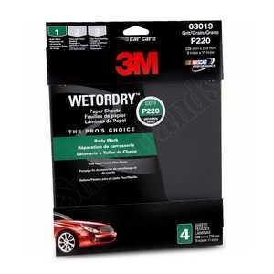 3M 3019 Auto Pak Wet Or Dry VFine 3.66 X9