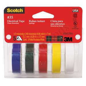 3M 10457 Assorted Electrical Tape 5 Pack
