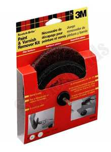 3M 9420NA 5 In ScotchBrite Flat Surface Paint And Varnish Remover Kit