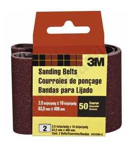 3M 9252NA-2 Sanding Belt 2-1/2x16 Coarse Heavy Duty 2pack