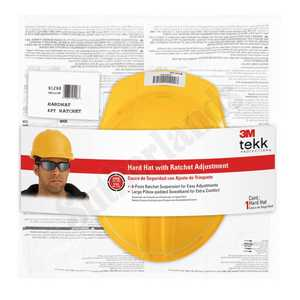 3M 91298-80025T Hard Hat With Ratchet Yellow