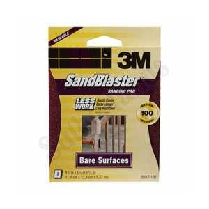 3M 20917-100 Sandblaster Sand Pad 100grit