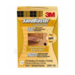 3M 20907-180 3.75 In X 2.5 In X 1 In 180 Grit SandBlaster Sanding Sponge