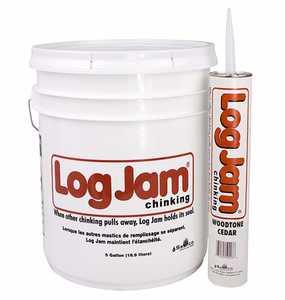Sashco 50155 Log Jam Chinking Caulk 5-Gallon Tan