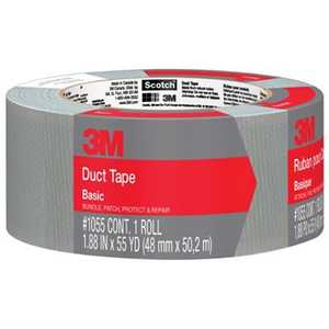 3M 1055 Scotch Basic Duct Tape 1.88 in X 55 Yd