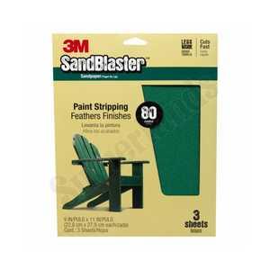 3M 20080-G Sandblaster Sandpaper 9x11 80grit