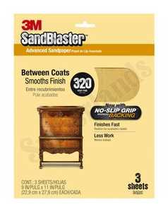 3M 20320 Sandblaster Sandpaper 9x11 320grit